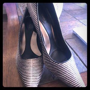 Rarely Used 5.5 Calvin Klein Zebra print heels.